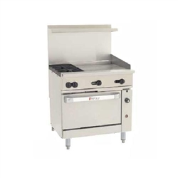 "Range, 36"", 2 Burners, 24"" Griddle, 1 Convection Oven - L.P. Gas, C36-C-2B-24G-P by Wolf."