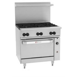 "Range, 36"", 6 Burners, 1 Convection Oven - Nat. Gas, C36-C-6B-N by Wolf."