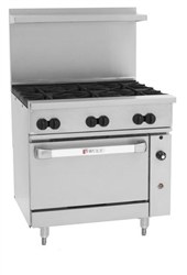 "Range, 36"", 6 Burners, 1 Convection Oven - L.P. Gas, C36-C-6B-P by Wolf."