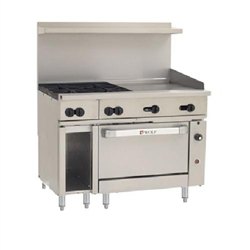 "Range, 48"", 4 Burners, 24"" Griddle, 1 Convection Oven - Nat. Gas, C48C-4B24G-N by Wolf."