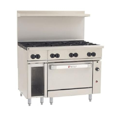 "Range, 48"", 8 Burners, 1 Convection Oven - L.P. Gas, C48C-8B-P by Wolf."