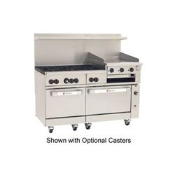 "Range, 60"", 6 Burners, 24"" Raised Griddle/Broiler, 1 Std, 1 Convection  Oven - Nat. Gas, C60-SC-6B-24GB-N"