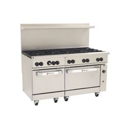 "Range, 60"", 10 Burners, 2 Standard Ovens - L.P. Gas, C60-SS-10B-P by Wolf."