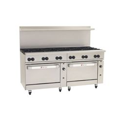 "Range, 72"", 12 Burners, 2 Convection Ovens - L.P. Gas, C72-CC-12B-P by Wolf."