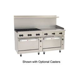 "Range, 72"", 6 Burners, 36"" Griddle, 2 Standard Ovens - Nat. Gas, C72-SS-6B-36G-N by Wolf."
