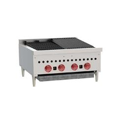 "Charbroiler, Countertop Radiant Style 24 1/4"" - Nat. Gas, SCB25-1 by Wolf."