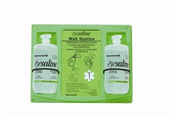 Double 32oz Wall Mount Eye Wash Station