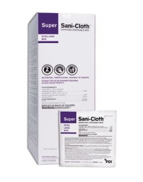 PDI Super Sani Cloth XL Wipe Packets