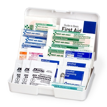 Personal First Aid Kit, 48 piece, plastic case