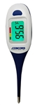Concord Digital Thermometer with Large Back-lit LCD Screen, Flexible tip and Alarm Feature
