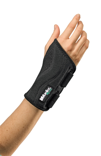 Mueller Green Fitted Wrist Brace (Right Wrist - S/Md)