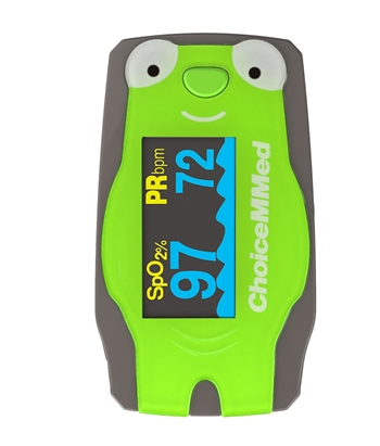 Pediatric Fingertip Pulse Oximeter green frog