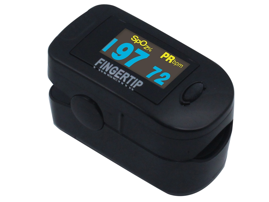 Concord Black Fingertip Pulse Oximeter Deluxe Pediatric / Adult
