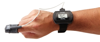 Nonin WristOx2 3150 Oximeter on Wrist with Fingertip Sensor
