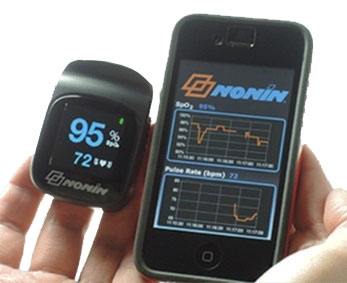 NoninConnect® 3240 Elite Finger Pulse Oximeter with Bluetooth™ Smart Wireless Technology