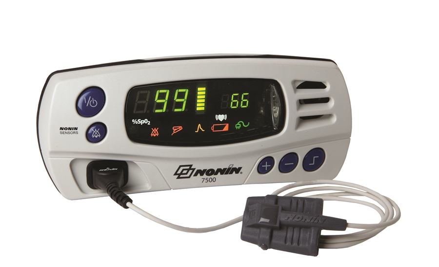 Nonin 7500 - Portable Tabletop Pulse Oximeter with Alarms