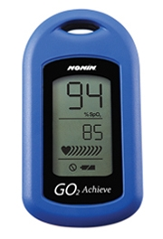 Nonin Go2 Achieve Digital Pulse Oximeter in Blue