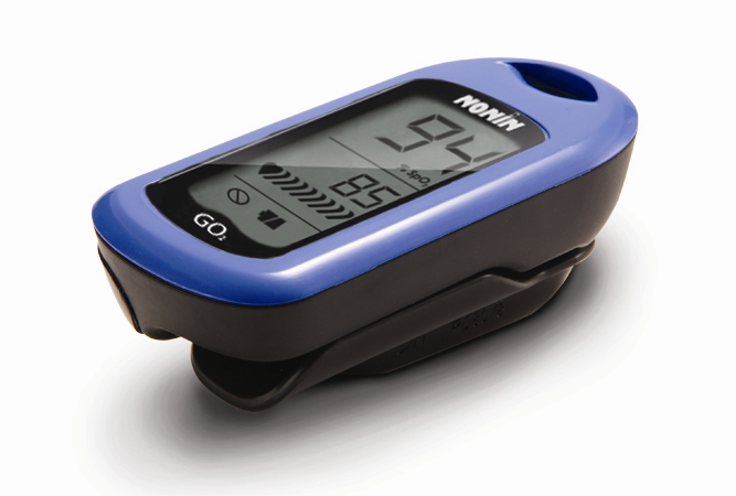 Nonin Go2 Achieve Pulse Oximeter  Made in USA (includes case, lanyard and  how-to guide)