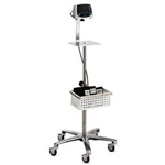 Deluxe 5 point rolling stand w/adj pole height