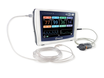 "LifeSense II WIDESCREENâ""¢ Tabletop Capnography EtCO2 and Pulse Oximetry Monitor"