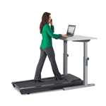 Walking Treadmill Station with Manual Adjustable Computer Stand