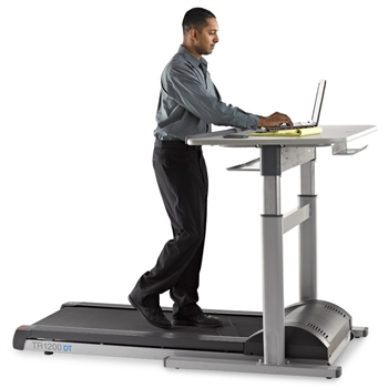 TR1200-DT7 Treadmill Workstation with Electric Height Adjustable Desk