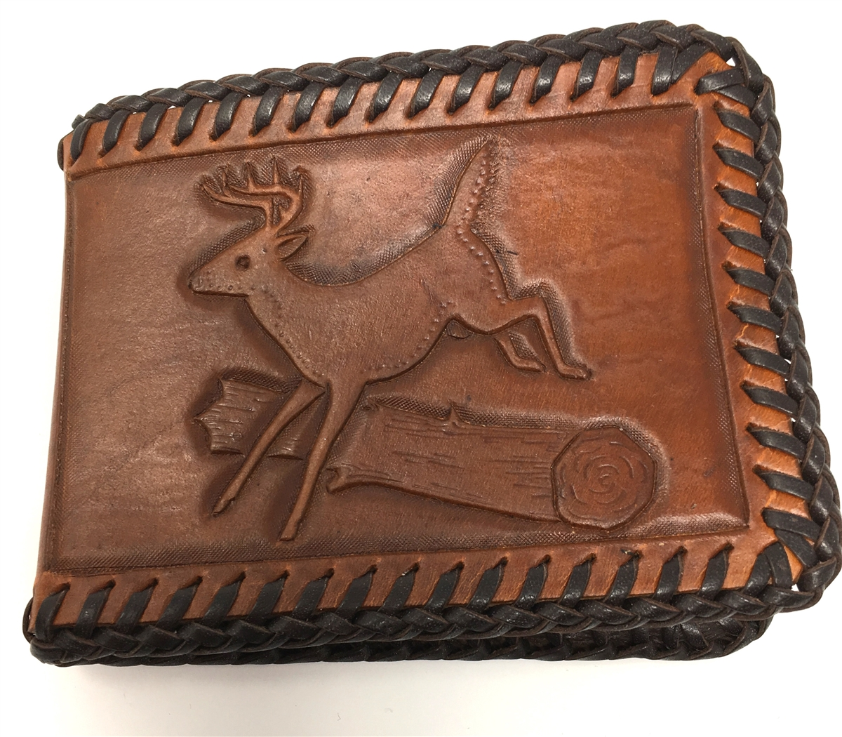 Amish Handcrafted Leather Wallet with Scenes