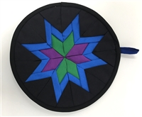 This beautiful pot holder was handmade by the Iva and Anna Yoder. These two sisters live with their family outside of Harmony, Minnesota in an Amish community.