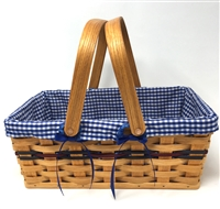 Amish Made Large Chore Basket With Liner