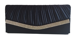 Navy Blue Satin Wedding Evening Bridal Clutch