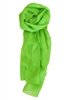 Green Solid Polyester Chiffon Neck Scarf Wrap Stole Shawl