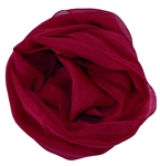 Deep Red Solid Polyester Chiffon Neck Scarf Wrap Stole Shawl