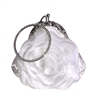 Small Flower Shaped Wristlet Wedding Clutch Bag