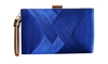 Satin Hard Box Wedding Clutch Purse Tassel