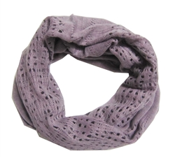 Light Purple Knitted Infinity Tube Cowl Scarf