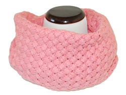 Baby Pink Knitted Infinity Tube Cowl Scarf