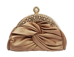 Chicastic Knot Rhinestone Studded Patent Leather Wedding Bridal Clutch Purse