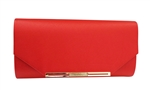 Chicastic Patent Leather Clutch Purse With Rhinestones
