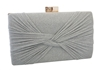 Shiny Glitter Hard Box Evening Wedding Party Clutch Purse With Knot Pattern