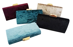 Elegant Solid Color Velvet Clutch Evening Bag Handbag