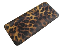 Brown & Black Leopard Print Hard Clutch Wallet