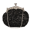 Black Sequin Casual Clutch Bag