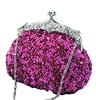 Fuchsia Pink Sequin Casual Clutch Bag