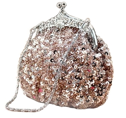 Rose Gold Formal Sequin Casual Clutch Bag