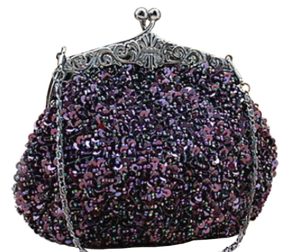 sequin formal clutch bag