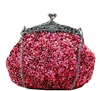 Wine Red Formal Sequin Casual Clutch Bag