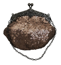 Bronze Brown Formal Sequin Casual Clutch Bag