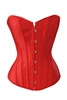 Red Satin Sexy Strong Boned Bridal Corset Lace Up Bustier