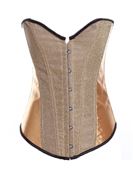 Shimmer & Satin Bustier Corset With Strong Boning Gold Silver Red Black Blue Green