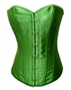 Emerald Green Satin Lace Up Sexy Strong Boned Corset